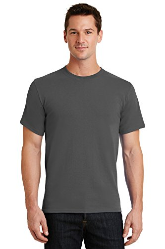 Port & Company Men's Essential T Shirt XL Charcoal 100 Cotton Essential T-shirt