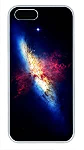 Protective PC Case Skin for iphone 5 White Fashion PC Case Back Cover Shell for iphone 5S with Galaxy Explosion