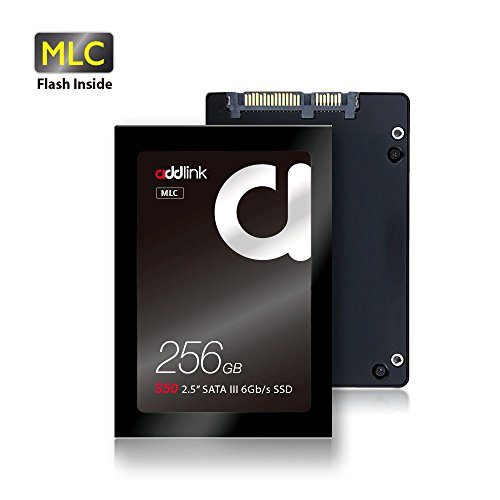 addlink S50 SSD 256GB MLC SATA III 6Gb/s 2.5-inch / 7mm Internal Solid State Drive with Read 550MB/s Write 500MB/s (MLC 256GB) by addlink
