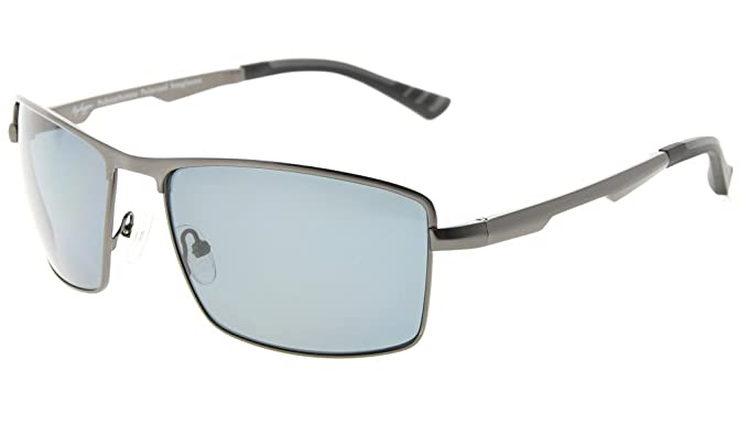 Eyekepper hombres Gafas de sol polarizadas lente de policarbonato con bisagras de resorte del marco del metal