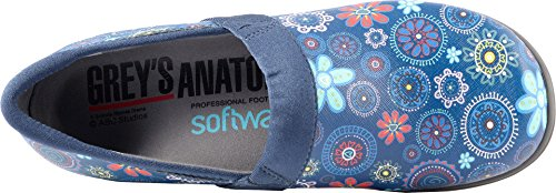 Sandalo In Pelle Medaglione Floreale Con Passamaneria Da Donna