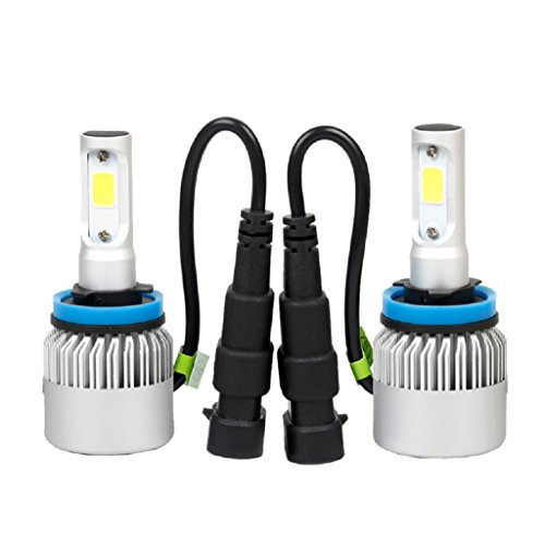SCASTOE H11 LED Headlight Conversion 80W 8000LM COB 6500K White Light Bulbs - 30v 80w Lamp