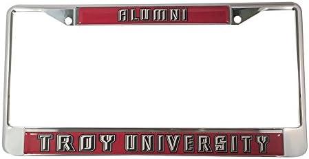Alumni - Metal Frame Approved Manufacturer Desert Cactus Troy University License Plate Frame//Tag For Front Back of Car Officially Licensed