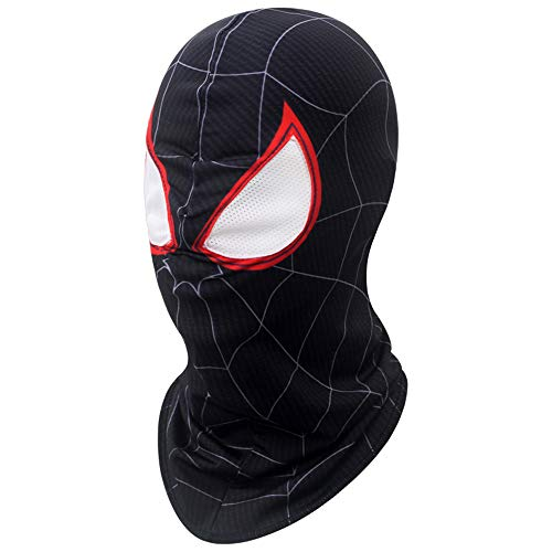 2018 Movie Black Spider Cosplay Mask Lycra Elastic Soft Breathable Full Head Hood Costume Accessory Props Party Halloween Adult -