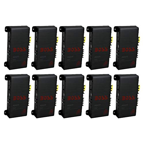 New BOSS R1002 200W 2-Channel RIOT Car Audio High Power Amplifier Amp 200 Watts (10 Pack)
