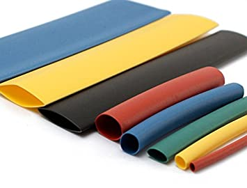 G&S Polyolefin Heat Shrink-Tube Sleeve (4mm, Blue-(1.5-meter) + Green-(1.5  meter)) : Amazon.in: Industrial & Scientific