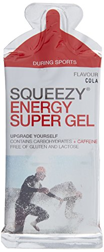 Squeezy Sports Nutrition Energy Super Gel Box 12 Beutel 33 g Cola & Koffein, 1er Pack (1 x 396 g)