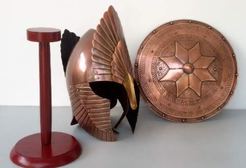 Piru Medieval Shield Helmet Armor King Spartan 300 Roman War Knight Helmet Replica -
