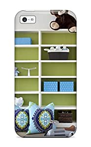 Fashion Case For Iphone 5c- Green And White Child8217s Bookcase With Bright Blue Accents Defender Case Cover 8330943K26289791