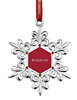 Waterford 2015 Silver Snowflake Picture Frame Ornament