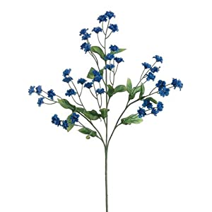 "19"" Silk Double Baby's Breath Flower Spray -Royal Blue (pack of 24) 78"