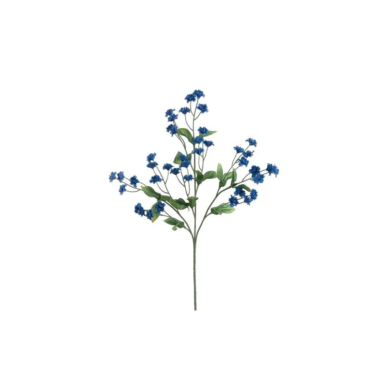 "silk flower arrangements 19"" silk double baby's breath flower spray -royal blue (pack of 24)"