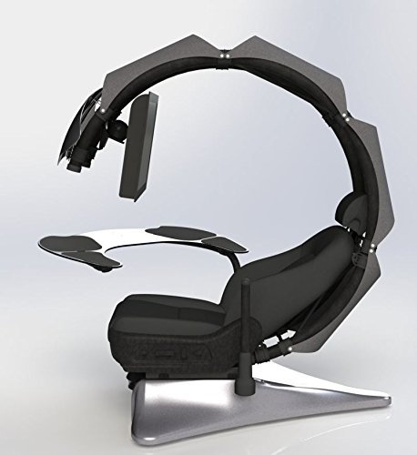 412Wju8n5aL - Pre-orderOrder-leadtime-4-weeks-after-order-Drian-Workstation-Game-Chairs-IT-Furniture-Converged-Gaming-chair-For-office-and-Home-and-Game-For-Single-Monitor-Left-door-direction-Modern-Grey