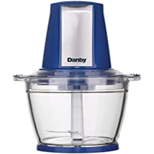 Danby DFC40C1SSDB Instant Pulse Electric Food Chopper, Blue/Stainless Steel