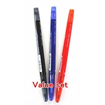 Pilot FriXion Ball Slim Retractable Erasable Gel Ink Pens,Extra Fine Point, - 0.38 mm - Black/Blue/Red Ink- Value Set of 3