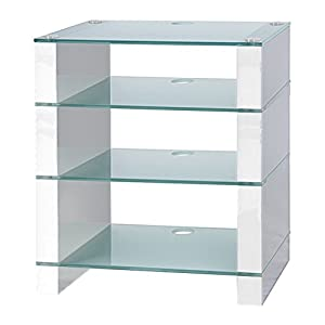 hifi stand hi fi rack av audio stand white gloss. Black Bedroom Furniture Sets. Home Design Ideas