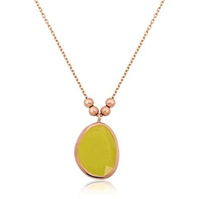 Amazon KOKANA Naturel Stone Yellow Necklace For Women And Girls