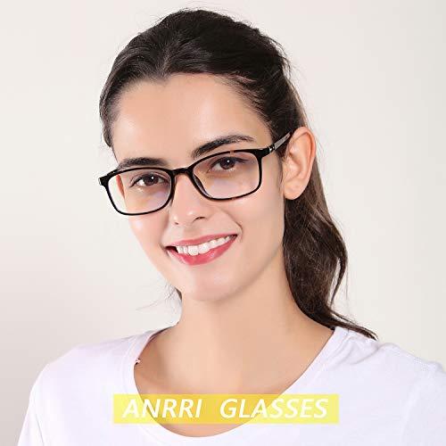 ANRRI Blue Light Blocking Glasses for Computer Use, Anti Eyestrain Headache UV Filter Gaming Eyeglasses Lightweight Frame, Tortoise, Man/Women by ANRRI (Image #3)