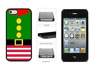 Cute Christmas Elf Suit Plastic Phone Case Back Cover Apple iPhone 5 5s