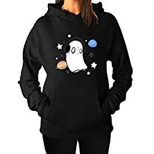 Women's Undertale music napstablook Cool Hoodie Sweatshirts Black