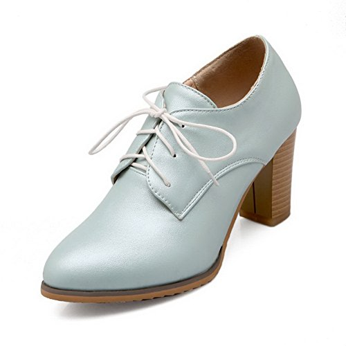 Femme massif imitation cuir shoes Bleu Composite balamasa pumps 4EwdTxfq