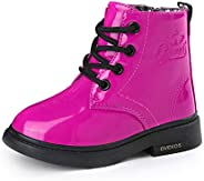 WYSBAOSHU Toddler Little Big Girls Ankle Boots Kids Snow Boots Fluff Lining