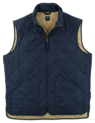 Quilted Mens Vest - J. Crew - Men's - Quilted Outerwear Vest (Multiple Colors (Large, Navy)