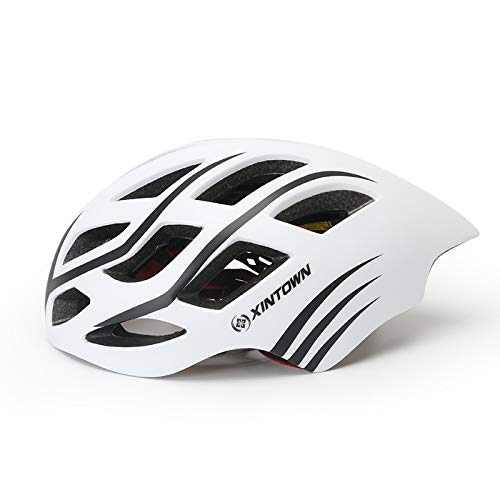 - AGUIguo Light Bicycle Helmet Men&Women Road and Mountain Bicycle Helmet (White)