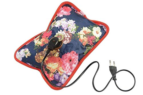 GIFTIES Electric Hot Water Bag with USB LED Light for Pain Relief-Assorted color and design