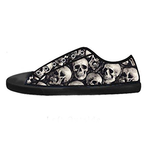 Custom skull Mens Canvas shoes Schuhe Lace-up High-top Sneakers Segeltuchschuhe Leinwand-Schuh-Turnschuhe C