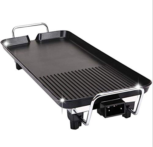 Huaishu Korean Style BBQ Smokeless Electric Baking Pan Non-Stick Barbecue Machine Multifunctional Barbecue Grill All Powerful Stovetop Us Japan 110V Black