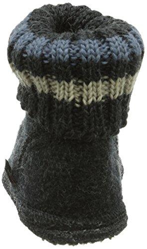 Haflinger Karl 631047K - Zapatillas de casa de tela para niños Graphit 077