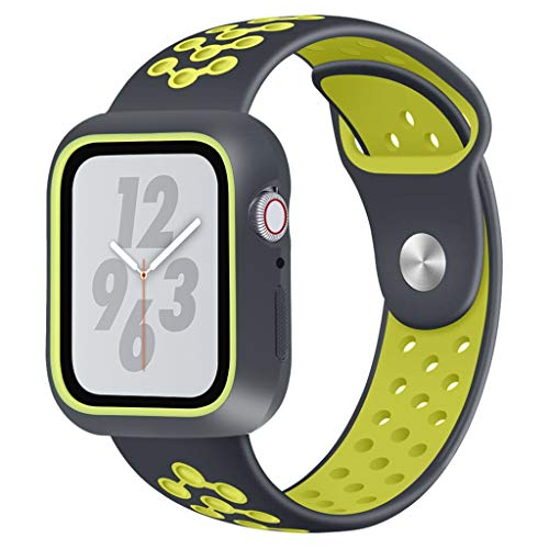 - JP-DPP9 for Apple Watch Series 4 44mm Watchband,Sport Loop Band Soft Silicone Sport Wrist Strap Replacement Bracelet Wristbands for Apple iWatch (Green)