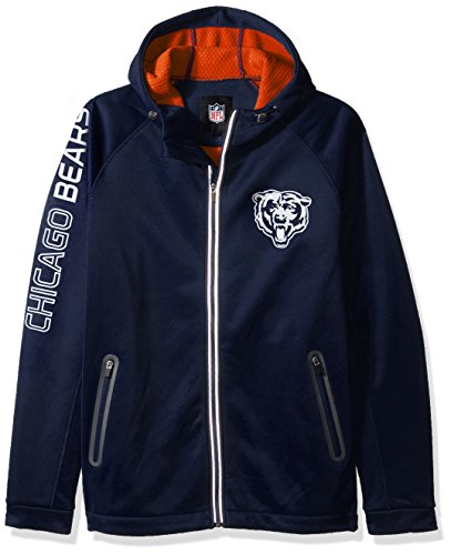 Bears Jacket - G-III Sports NFL Chicago Bears Motion Full Zip Hooded Jacket, 3X, Navy