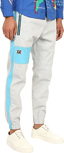 Love Moschino Men's Color Block Jogger, Grey/Azure, 54 X 29 by Love Moschino (Image #1)