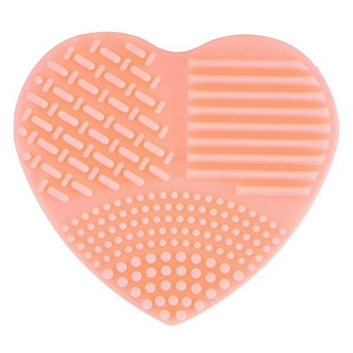 1 Pcs Heart Makeup Brush Set Wash Silica Glove Scrubber Clean Cleaning Cosmetic Tools Professional Natural Beauty Palettes Eyeshadow Pretty Popular Eyes Face Colorful Rainbow Highlights Kit, Type-03 by GrandSao