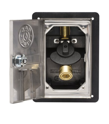 Gas Plug GR0101-SS-50 Recessed Gas Outlet Box with 1/2-Inch Inlet, 3/8-Inch Outlet, Black PVC Enclosure and Stainless Steel Lockable (The Gas Connection)
