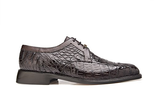 Belvedere Men's Susa Exotic Shoes,Brown Crocodile,9 M US