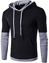 Men's Casual Long Sleeve Slim Fit Hoodie Shirt