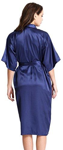 Aibrou-Damen-Morgenmantel-Satin-Robe-Nachtwsche-Bademantel-Kimono-Negligee-Seidenrobe-Schlafanzug-lang