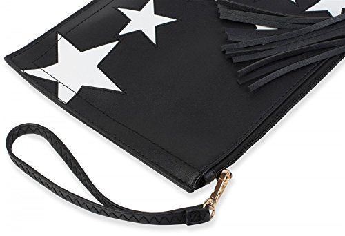 strap Color 02012075 clutch blue Midnight zipper star White wrist styleBREAKER Dark shoulder upon design Blue pendant and tassel ladies pvOaZWR7cq