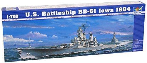 Trumpeter 05701Model Kit Battleship USS Iowa Bb 611984 by Trumpeter