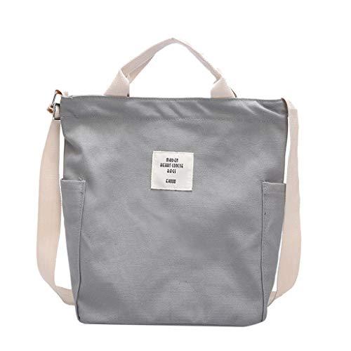 Pengy Women's Canvas Shoulder Bag Fashion Simple Single Bag Shoulder Letter Print Bags for Shopping]()