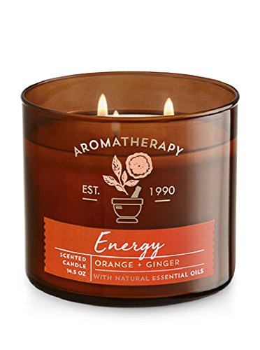 Bath & Body Works Scented Aromatherapy Candle in ENERGY- Orange + Ginger