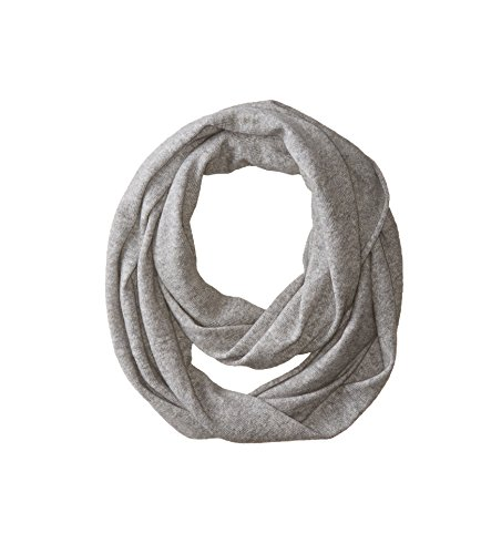 bela.nyc Women's Cashmere Solid Infinity Scarf, Light Grey Heather, One Size by bela.nyc