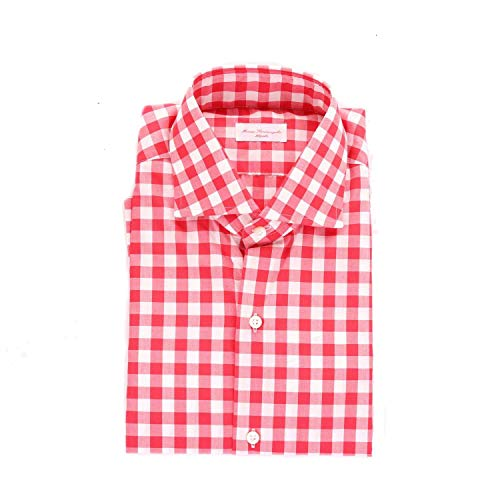 MARIA SANTANGELO NAPOLI Men's Zephir3red Red Cotton Shirt (Shirt Napoli Red)