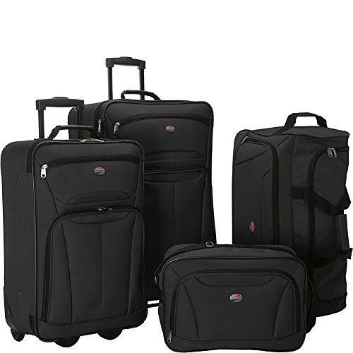 American Tourister Luggage Fieldbrook Ii 4 Pc Set, Black American Tourister Lightweight Garment Bag