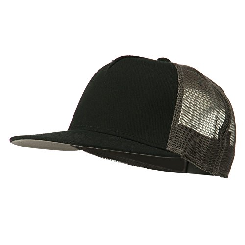 5 Panel Prostyle Trucker Caps - Black Black Charcoal OSFM