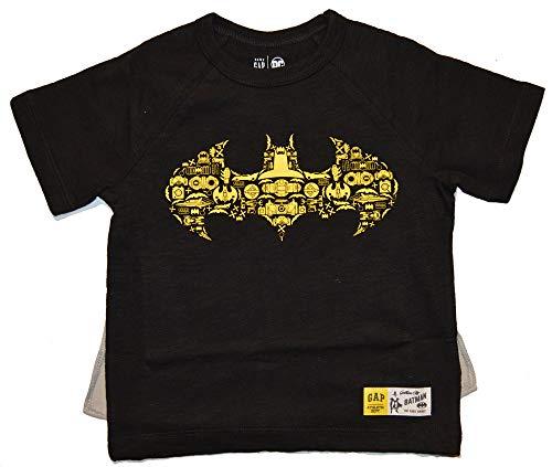 GAP Baby Toddler Boys Batman Black Cape T-Shirt Top 2