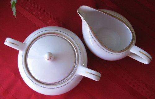 (Vintage Kaysons China Golden Rhapsody Sugar Bowl & Creamer)